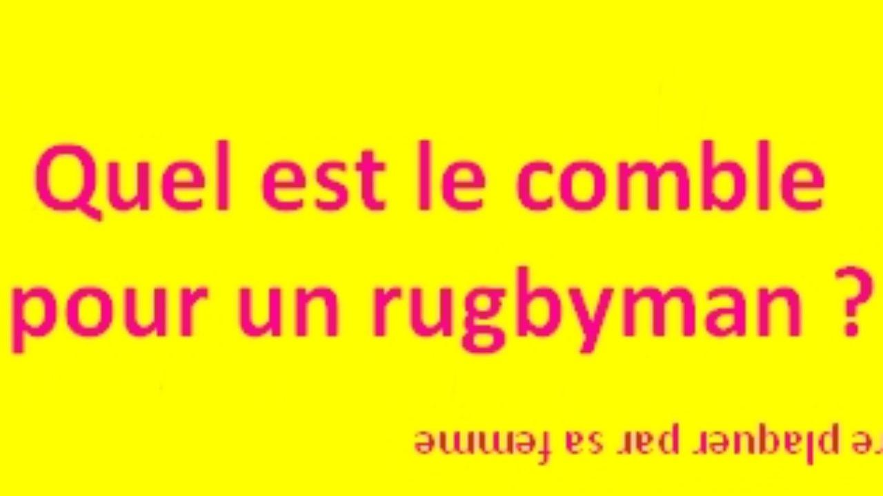 Blague Carambar Le Comble Du Rugbyman Devinette Du Jourdevinette