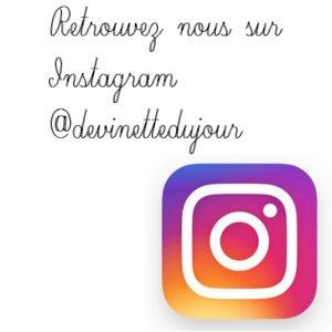 instagram devinette du jour